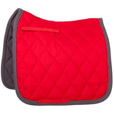 BR Saddlepad Dressage Event Florida Red/Grey piping Full