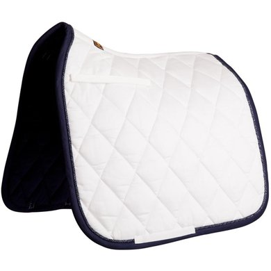 BR Tapis de Selle de Dressage Event Luxe 400gr Blanc Nautical Full