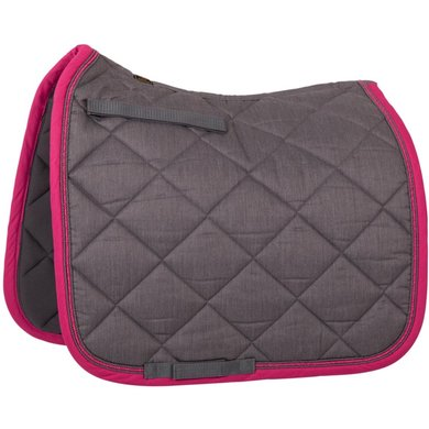 BR Saddlepad Dressage Melange Exclusive Grey/pink Full