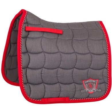 BR Saddlepad Dressage Melange Classic M Grey/Red Full
