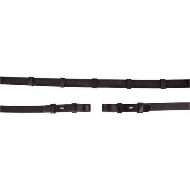 BR Rein Linen 19mm Anti-slip E Fastener Black / Silver