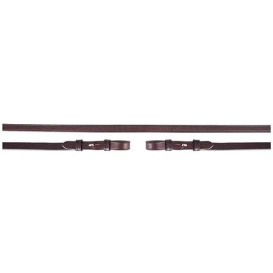BR DR Zügel Leder Geschlossen 13mm Blind braun/silber Full