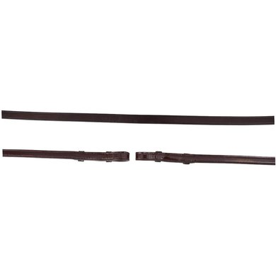 BR Teugel Dressuur Lakleer Dicht 13mm Bruin/Zilver Full