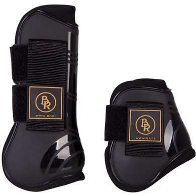 BR Tendon & Fetlock Boots & Fetlock Boots Set Pro Tech PU Neoprene Black