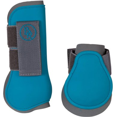 BR Tendon Protectors Fetlock Boots Set Grey/Carribean Pony