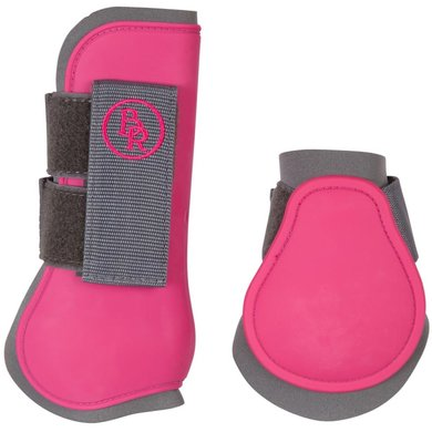 BR Tendon Protectors Fetlock Boots Set Mel M Grey/pink Full