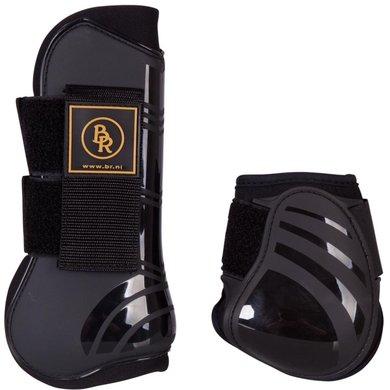 BR Tendon & Fetlock Boots Set & Fetlock Boots Set Pro Tech PU Neoprene Black