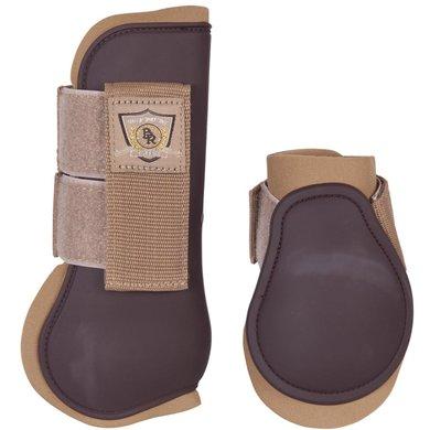 BR Tendon Protectors Fetlock Boots Set Mel M Tea/Chocol Pony