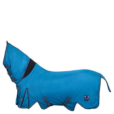 BR 4-Ever Horses Fliegendecke mit Hals Medium Blue 137cm
