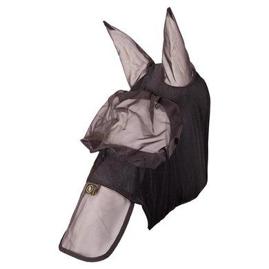 BR Vliegenmasker met Oren Mesh/lycra Zwart