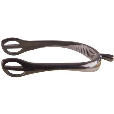 Metallab Sporen Kunststof met Rubber Hakdeel Zwart/Grijs