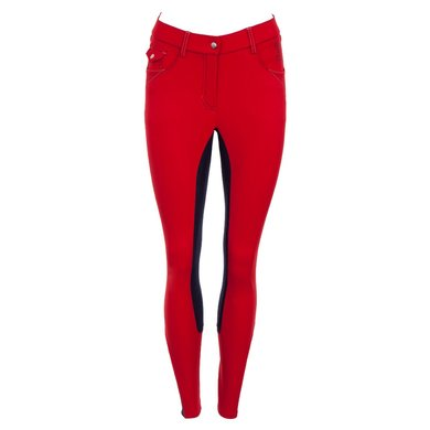 BR Polo Society Rijbroek Evita Dames MFiber zit Haute Red 34