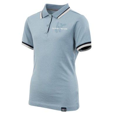 BR Poloshirt Octiana 4-EH Korte Mouw Kind Faded Denim
