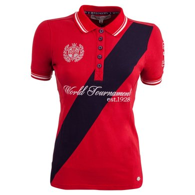 BR Polo Society Poloshirt Martina Dames Haute Red L