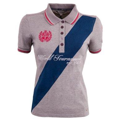 BR Polo Society Poloshirt Martina Dames Grey Melange M