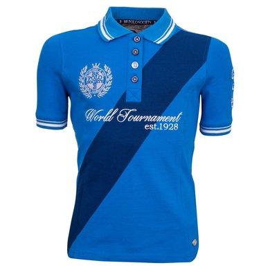 BR Polo Society Poloshirt Victoria Kinderen Dir Blue 116