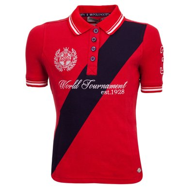 BR Polo Society Poloshirt Victoria Kinderen Haute Red 128