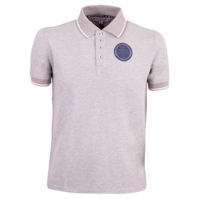 BR Polo Society Poloshirt Juan Heren Grey Melange XL