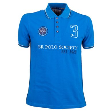 BR Polo Society Poloshirt Pablo Heren Directoire Blue XS