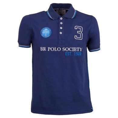 BR Polo Society Poloshirt Pablo Heren Medieval Navy L