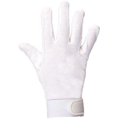 Premiere Gants d'Équitation Coton Blanc