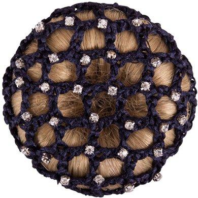 BR Filet à Cheveux Grandes Mailles et Pierres Diamant Bleu