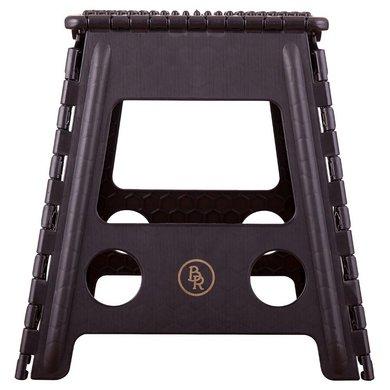 BR Opstapkrukje Kunststof Opvouwbaar Zwart 29x22x39cm