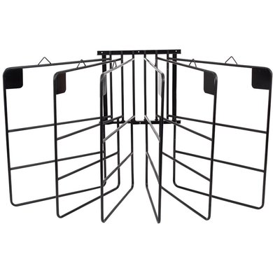 Premiere Rug Rack Wall Mount 6 Rugs Black 6 Dekens