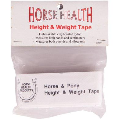 Premiere Meet-en Weeglint Horse Health 32mm Wit 216cm