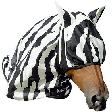 Bucas Buzz-Off Fly Mask Zebra