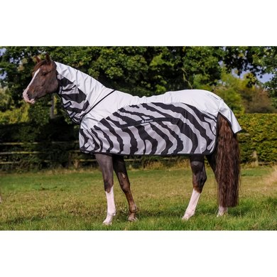 Bucas Buzz-Off Rain Full Neck Zebra