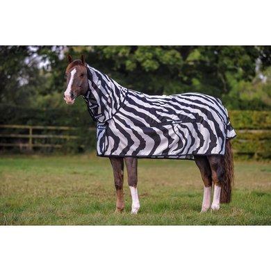 Bucas Buzz-Off Full Neck Big Neck Zebra