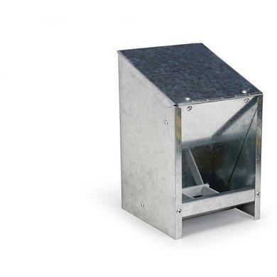 Olba Metall Futterautomat m. Deckel 2,5 kg