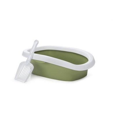 Stefanplast Kattenbak Sprint 10 Wit Groen 31x43x14cm