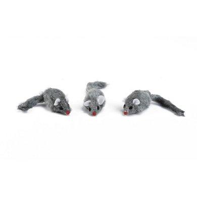 Beeztees Plüschmaus 5cm Grau 3st