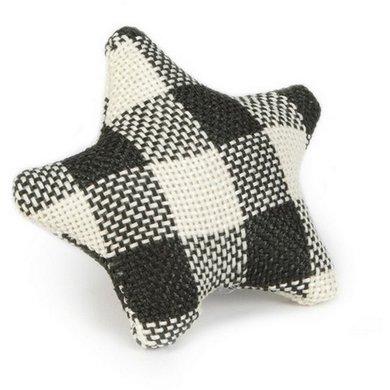 Beeztees Textiel Kattenspeeltje Star Zwart Wit 8cm