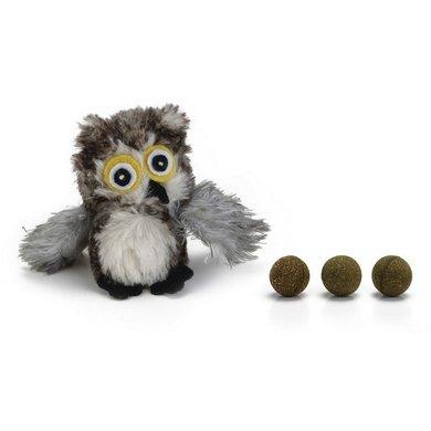 Beeztees Pluche Kattenspeeltje Uil met Catnipballen 95cm