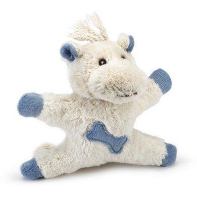 Beeztees Textiel Hondenspeeltje Hompy Wit Blauw 14cm