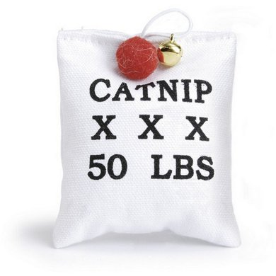 Canvas zakje+catnip 10cm