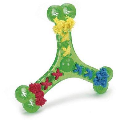 Beeztees TPR Werpspeelgoed met Gevlochten Touw groen 24cm