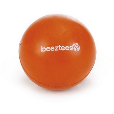 Beeztees Rubber Bal Massief Oranje 4,5cm
