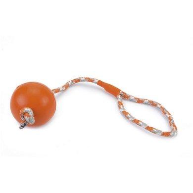 Beeztees Rubber Bal No3 + Koord Oranje Bal 6,5cm Koord 30cm