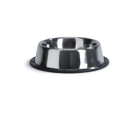 Beeztees Food and Drinking Bowl Stainless with an Anti-slip Border
