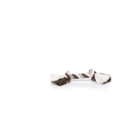 Beeztees Baumwollseil 2 Knoten Braun/Grau/Creme 50 g