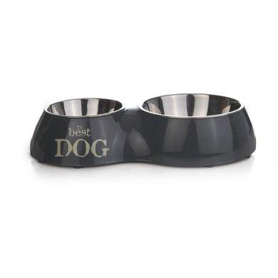 Dinerset Best Dog zwart - 37cm