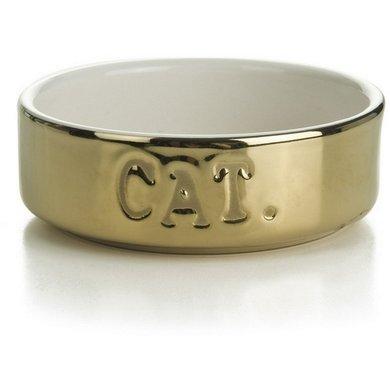 Beeztees Keramiknapf Katze Gold 11,5x4cm 200ml