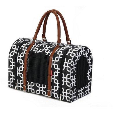 Beeztees reiskoffer deco zwart wit 40x23x27cm - Deco salon zwart wit ...