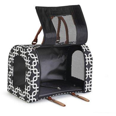 Beeztees reiskoffer deco zwart wit 40x23x27cm - Deco corridor zwart wit ...