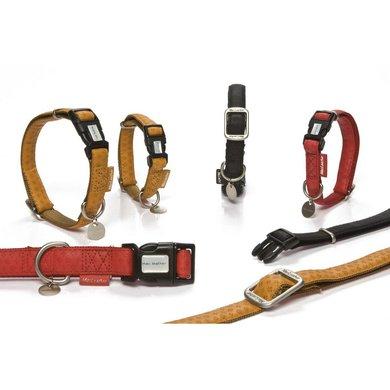 Beeztees Mac Leather Halsband Rood