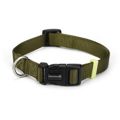 Beeztees Nylon Halsband Uni Licht Groen